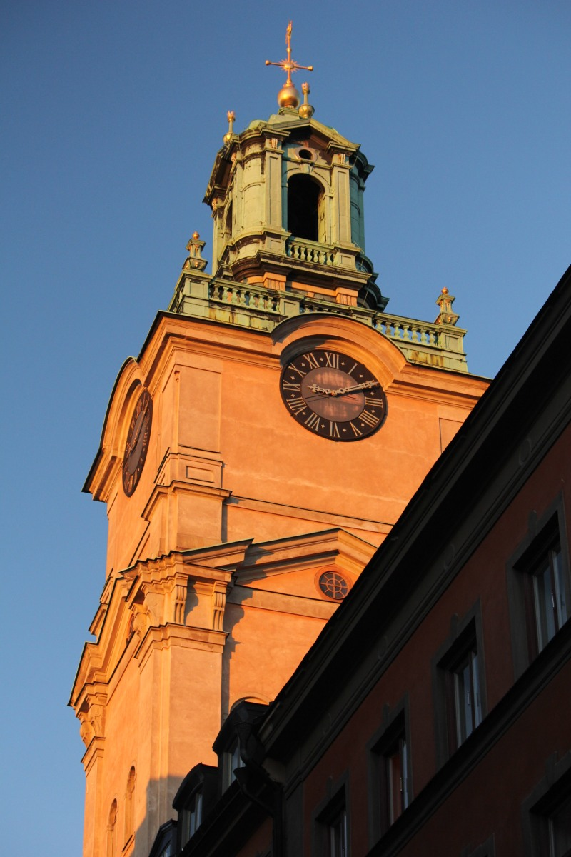 Stockholm clock tower